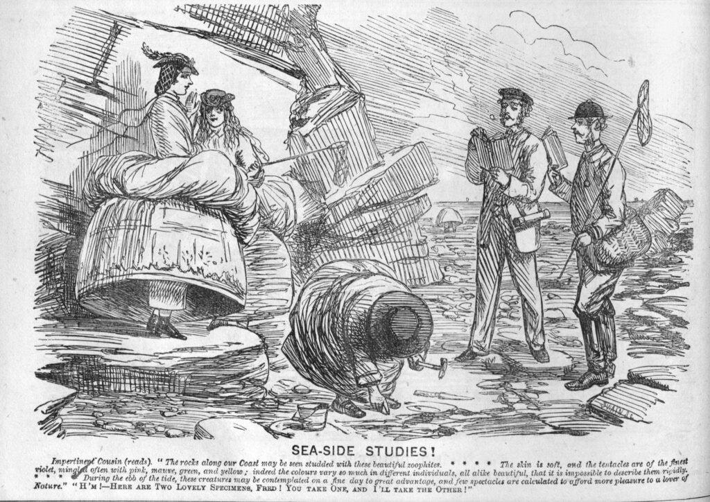 A cartoon of sea exploration from 1860