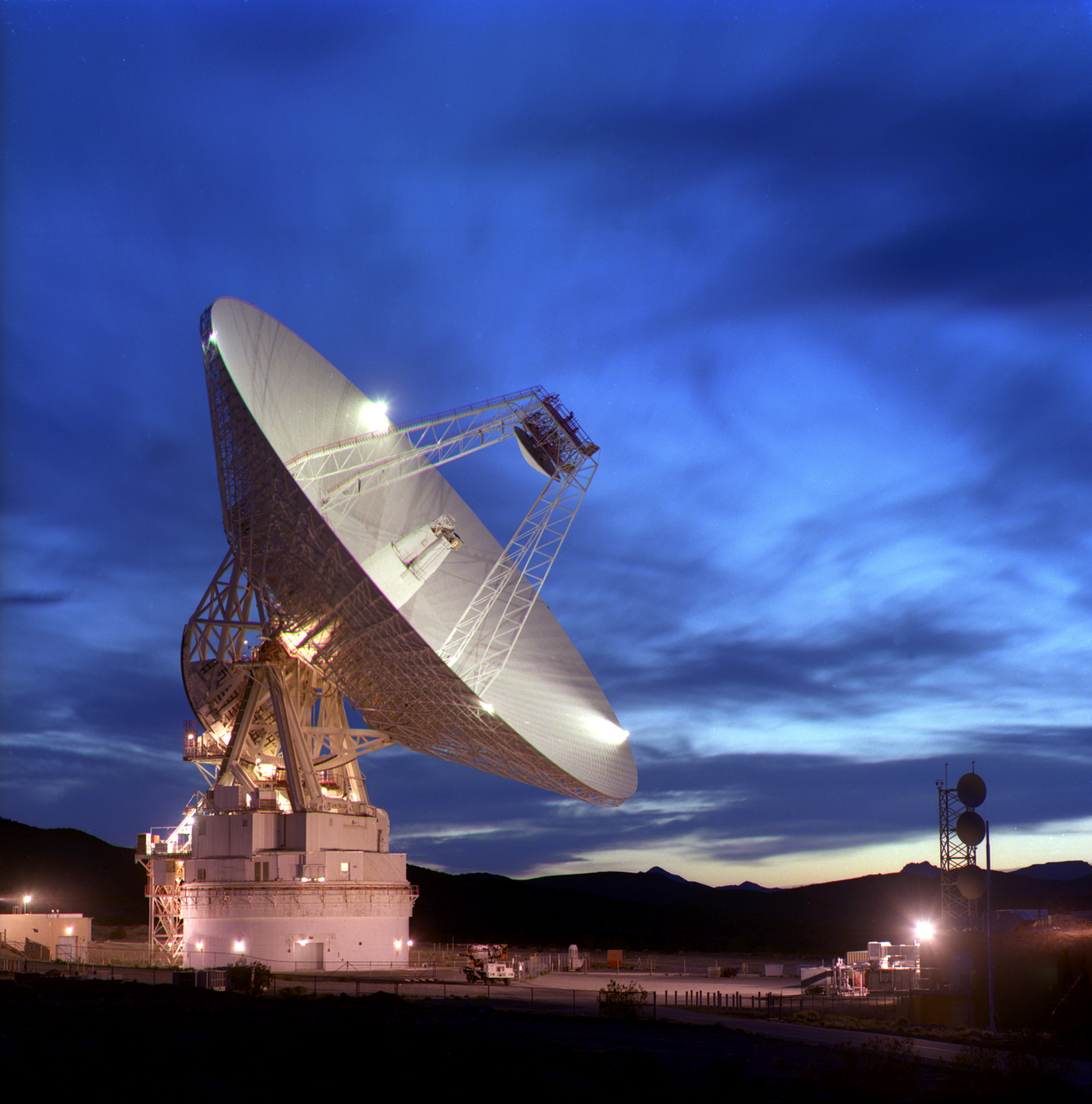The 21-story DSS-14 dish in the Mojave Desert.