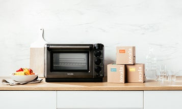 Steam, bake, broil, and toast from an app with this countertop smart oven