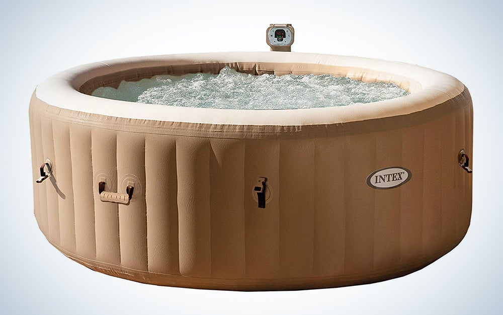 Intex PureSpa Plus Round 6 Person Portable Inflatable Hot Tub
