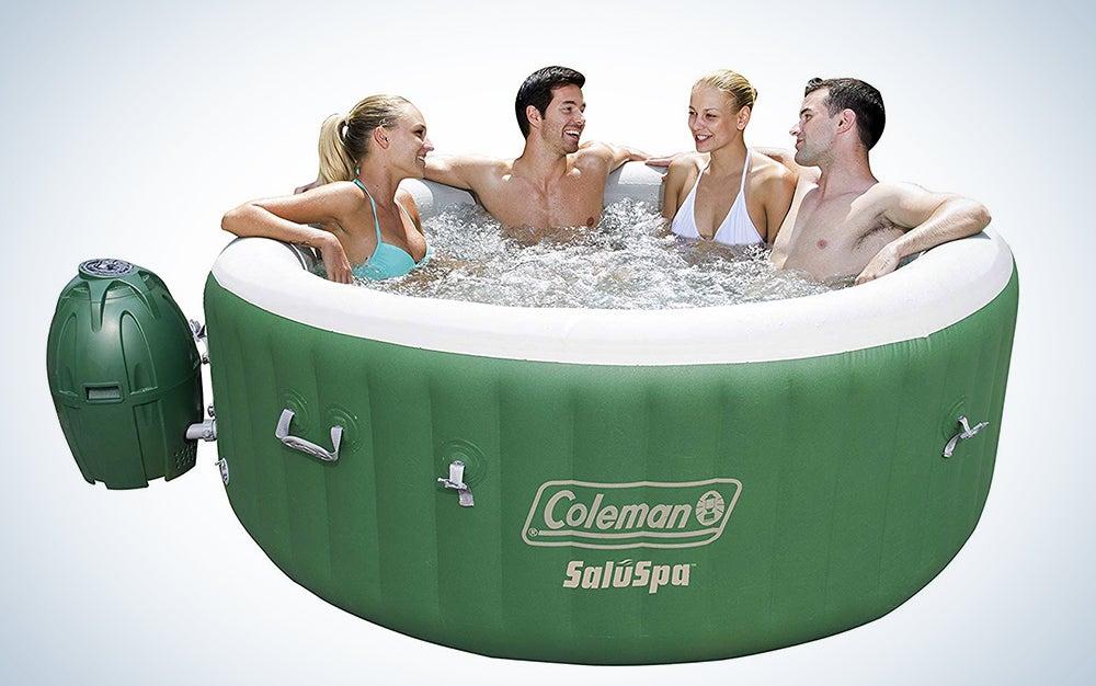 Coleman SaluSpa Portable 4 Person Outdoor Inflatable Hot Tub