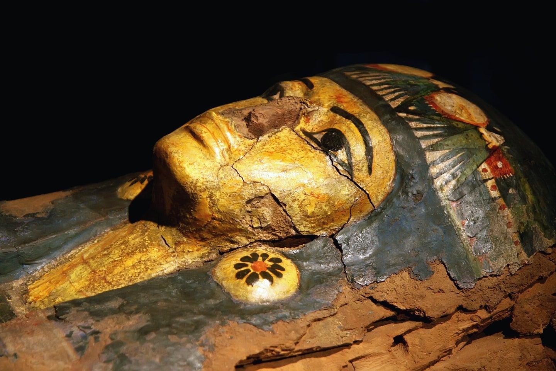 Egyptian coffin mummy.