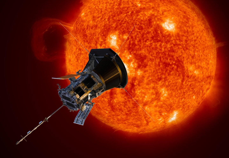 illustration of a probe nearing the sun