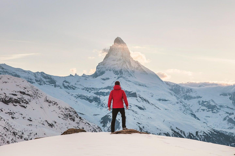 down jacket mountains
