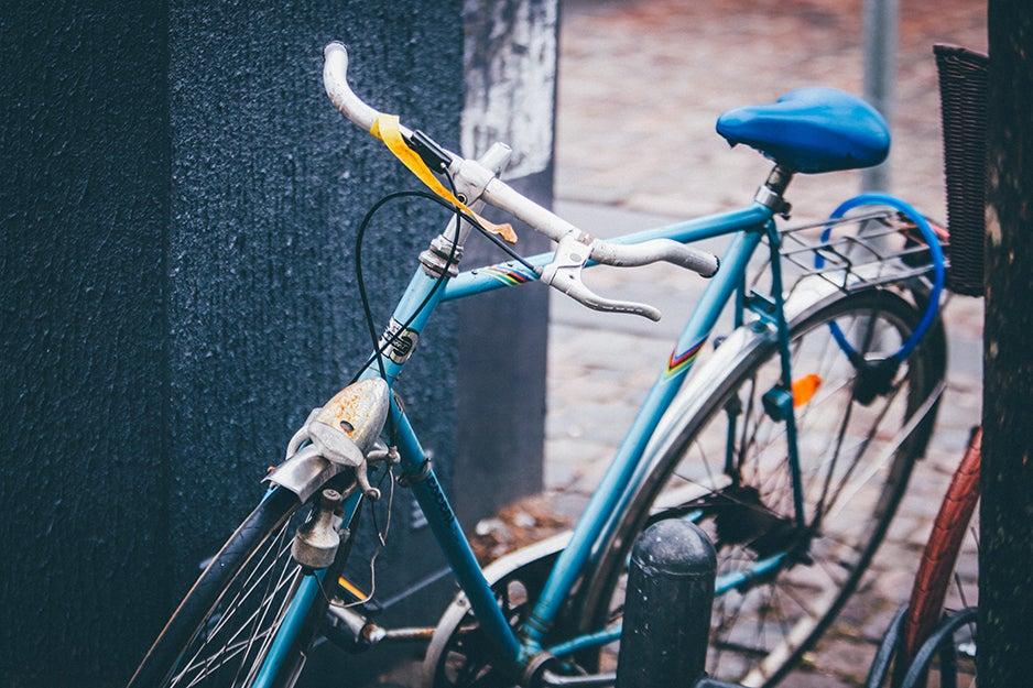 bike with a chain