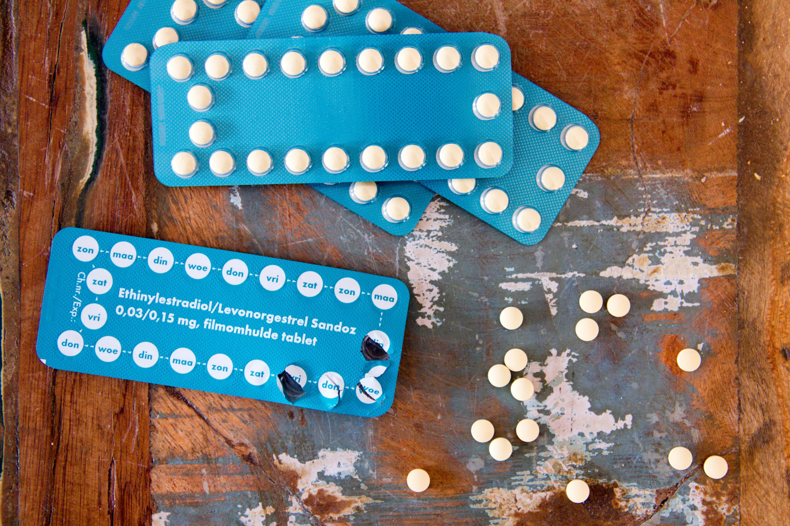 birth control pill packs