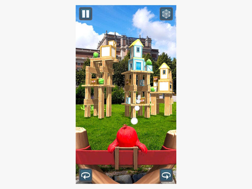 the Angry Birds AR game with augmented reality (AR)