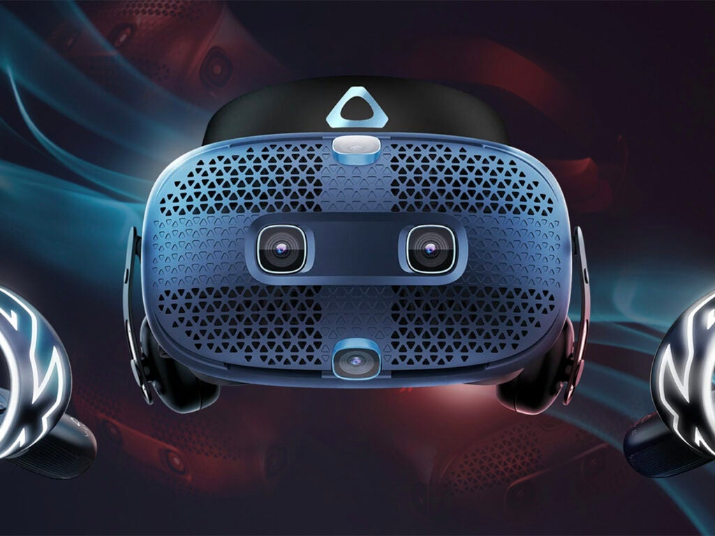 an HTC Vive Cosmos virtual reality (VR) headset