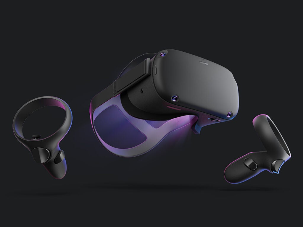 an Oculus Quest virtual reality headset