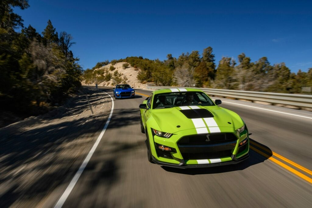 Ford GT500 bright green.