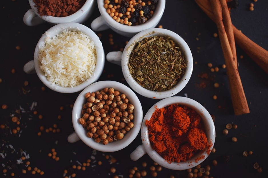 spices in cups