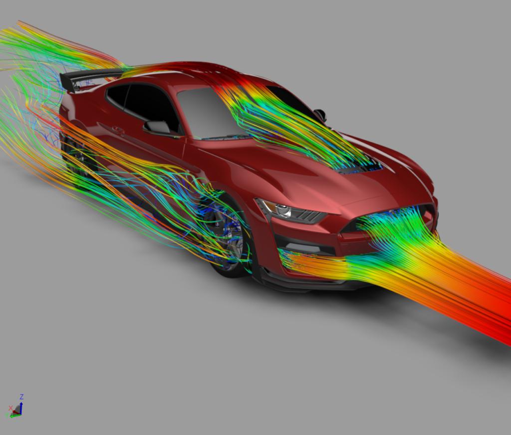 Ford GT500 aerodynamics.