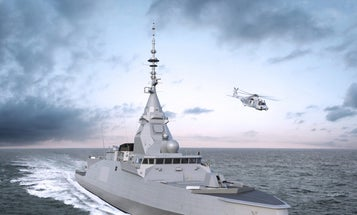 France's new warship will have an inverted bow and 2.2-ton radar panels