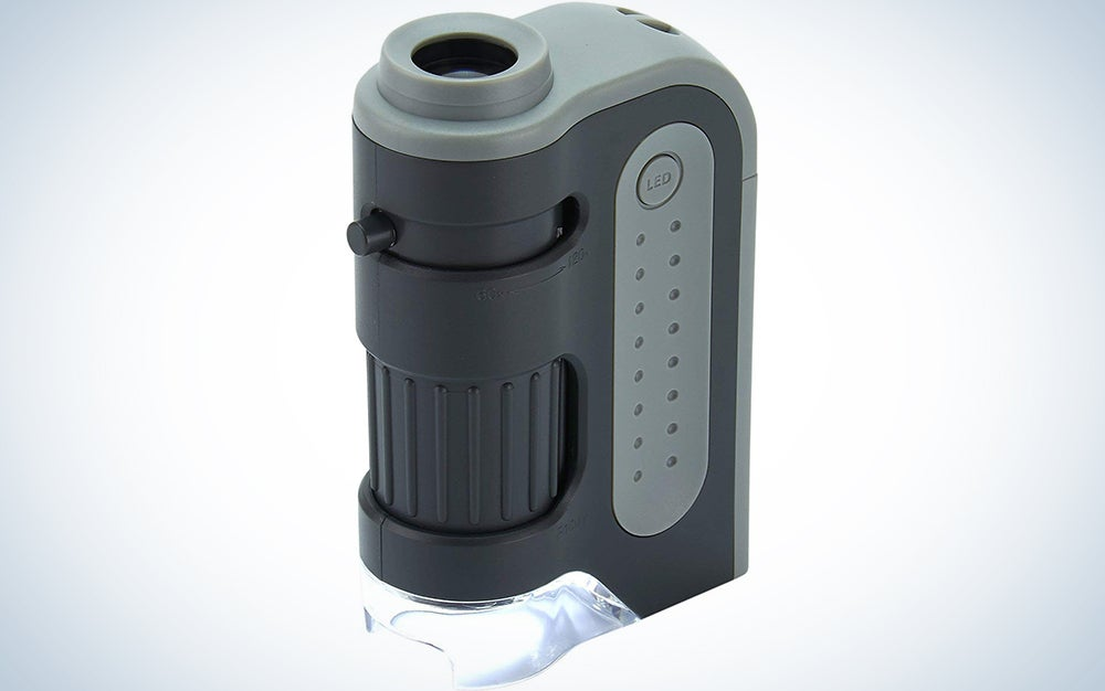 Carson MicroBrite Plus 60x-120x LED Lighted Pocket Microscope with Aspheric Lens System