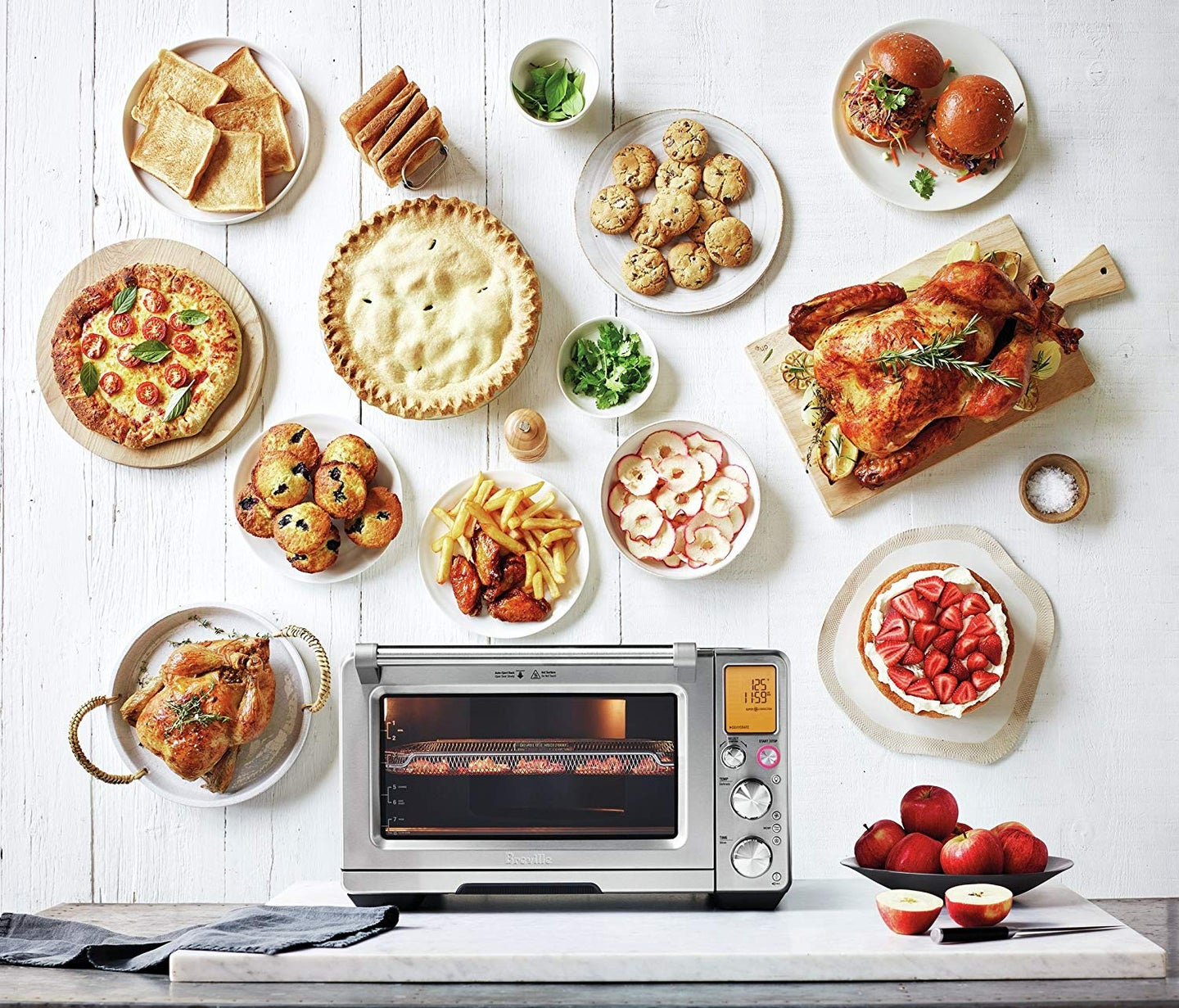 convection oven on a countertop