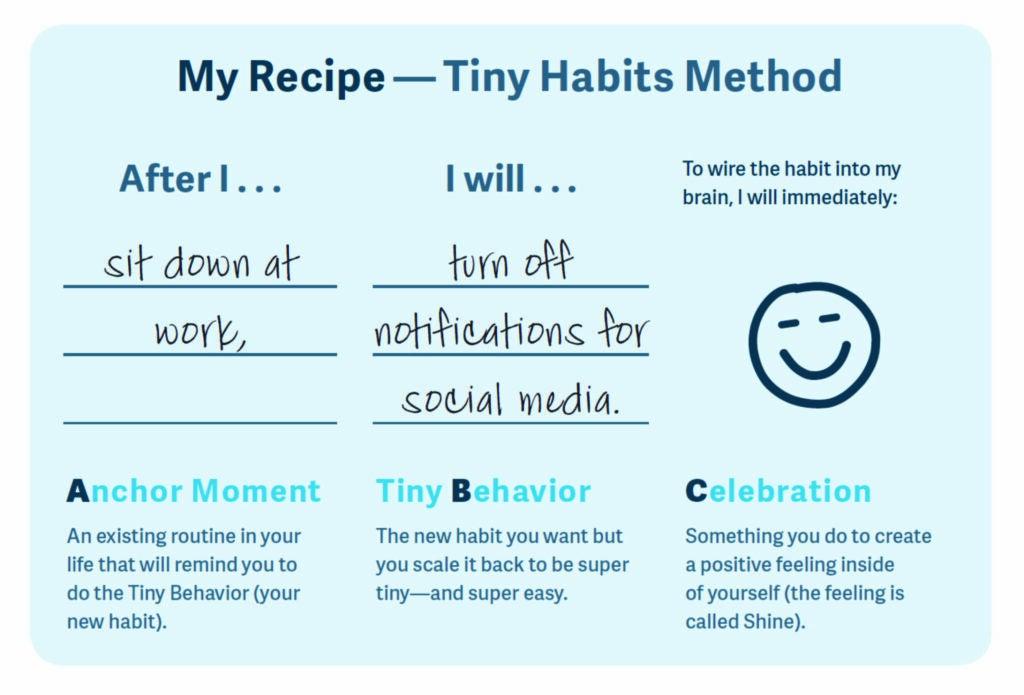 tiny habit recipe