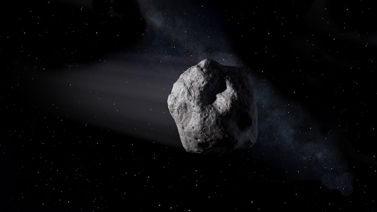 a meteorite in space