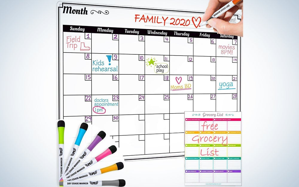 Dry Erase Monthly Calendar Set