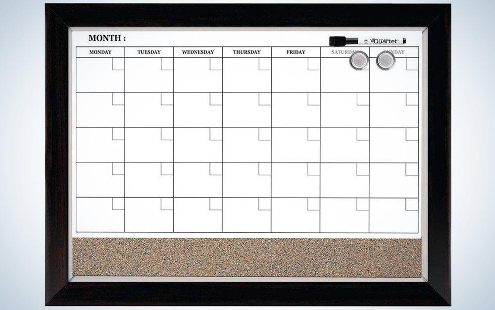 Quartet Combination Magnetic Whiteboard Calendar