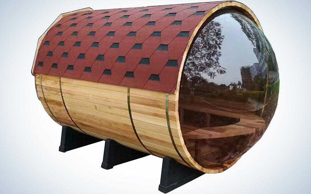 Symbolic Spas 4 Person Barrel Steam Sauna