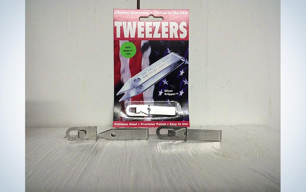 Sliver Gripper Uncle Bill's Key Chain Tweezers