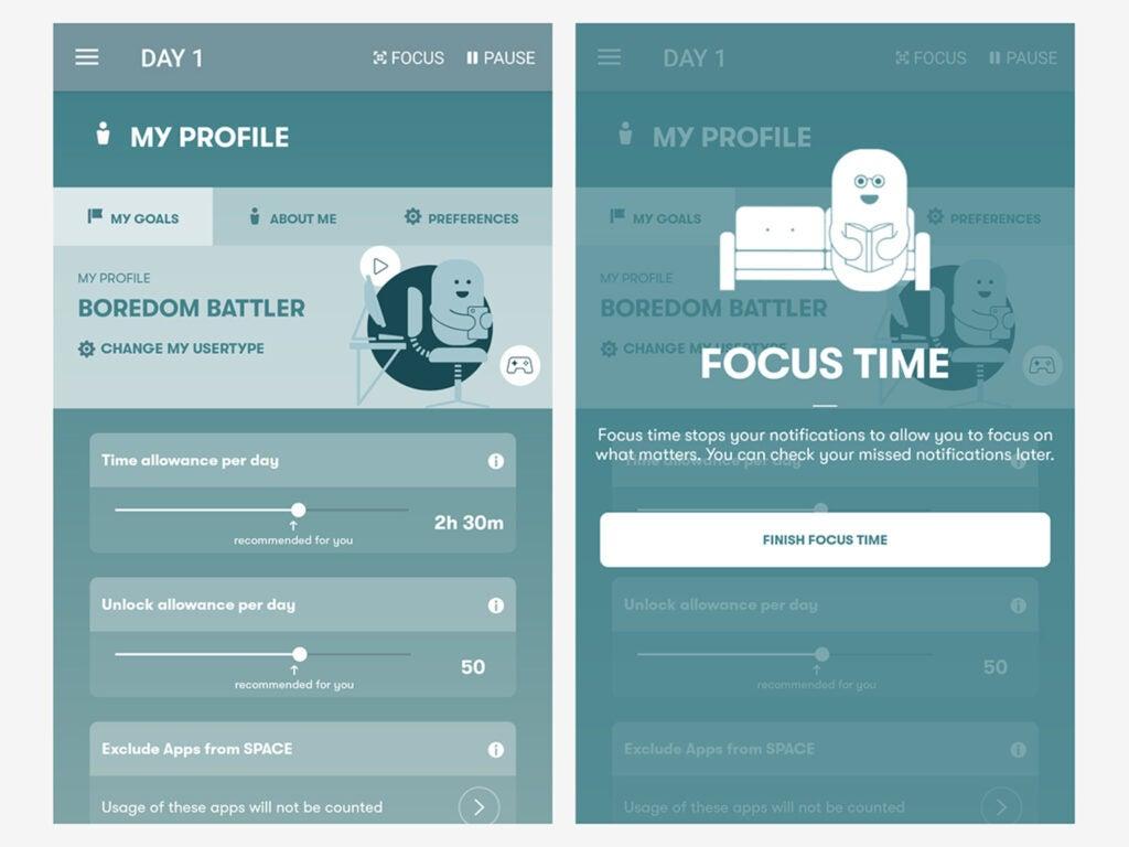Screenshot of Stay Focused app