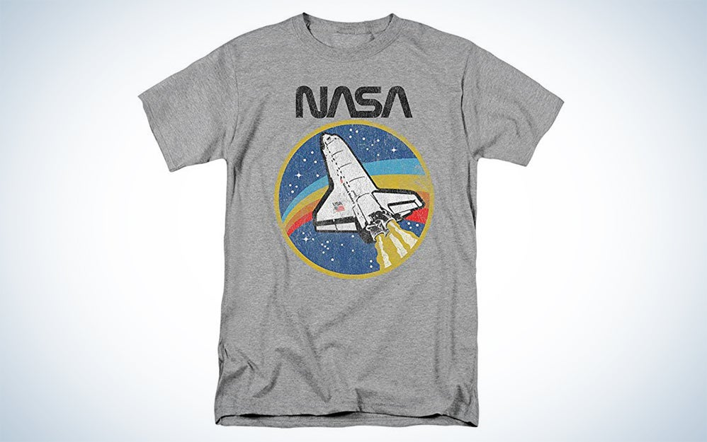 NASA Retro Vintage Space Shuttle T Shirt & Stickers
