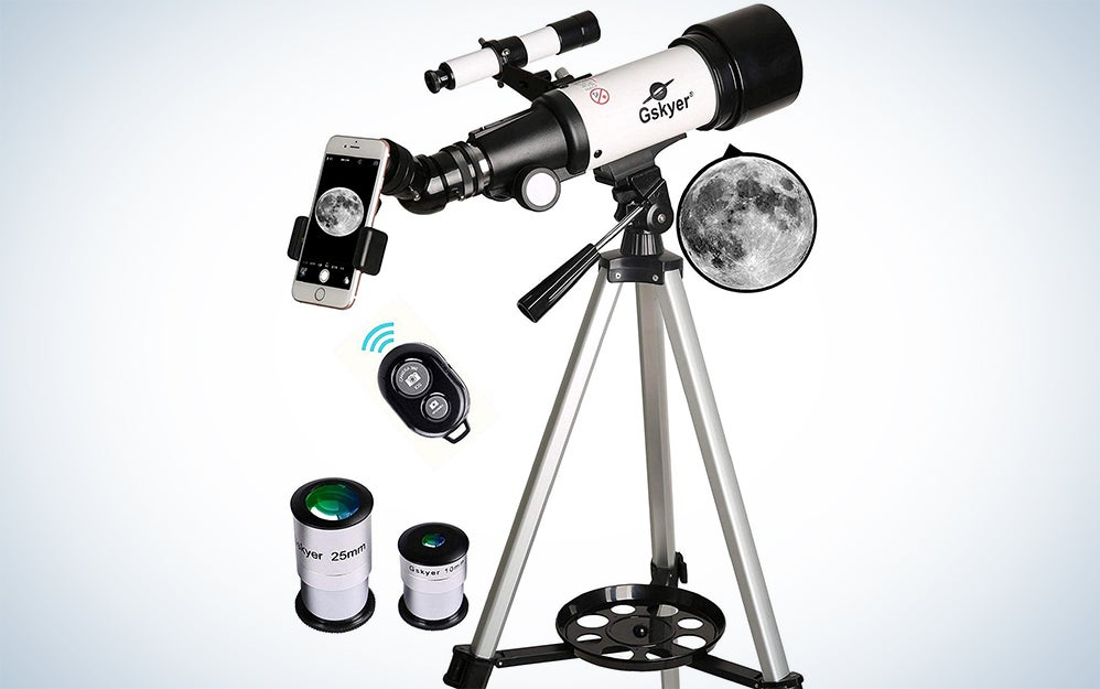 Gskyer Telescope, Travel Scope, 70mm Aperture 400mm AZ Mount Astronomical Refractor Telescope for Kids Beginners