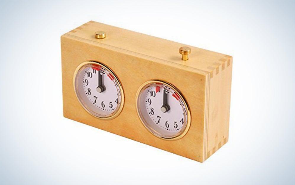 Betterline Professional Analog Wood Chess Clock Timer