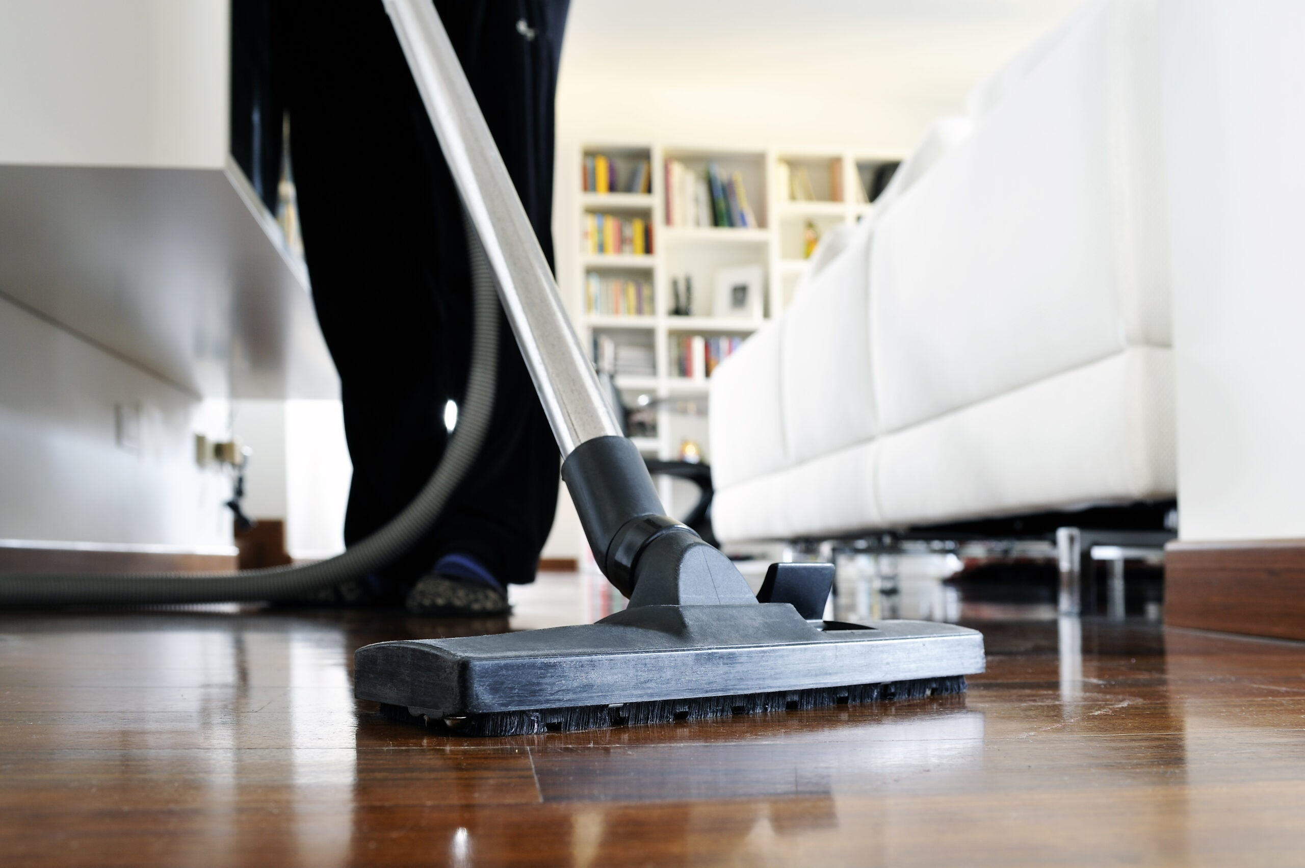 cleaning a home