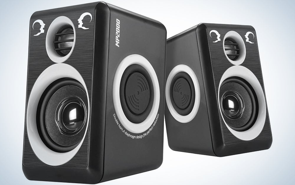 RECCAZR SP2040 Surround Computer Speakers with Deep Bass USB Wired Powered Multimedia Speaker for PC/Laptops/Smart Phone Built-in 4 Loudspeaker