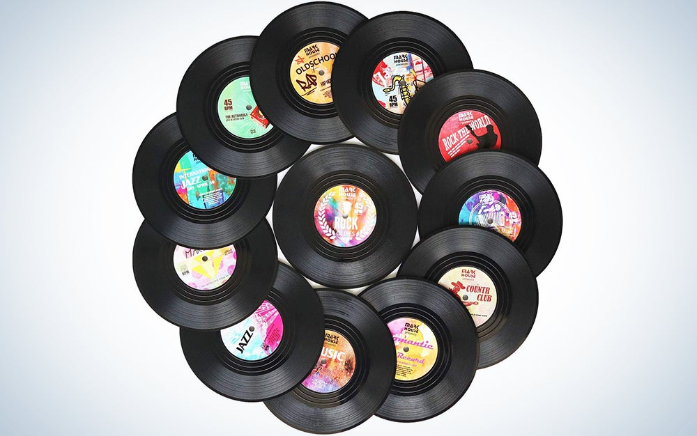 DuoMuo Vinyl Record Drink Coasters