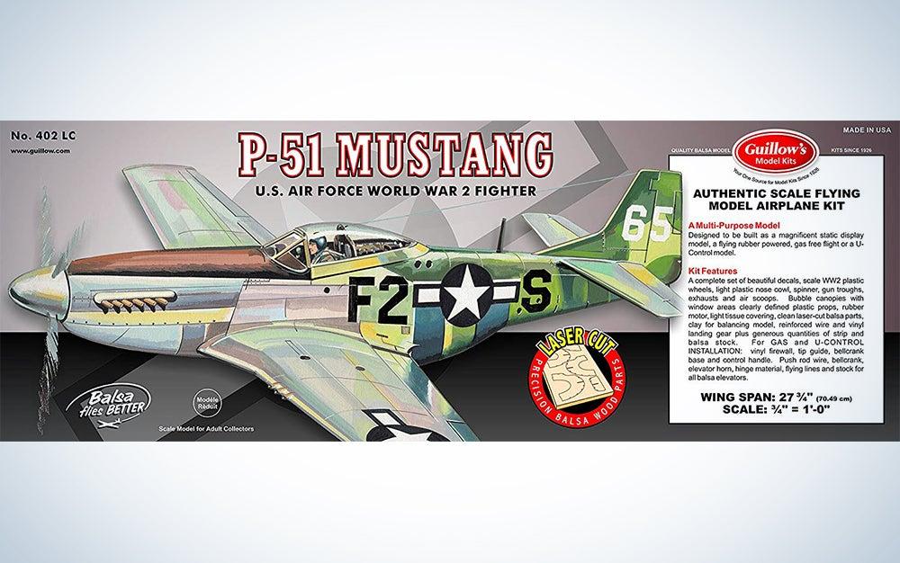 Guillow's P51 Mustang Laser Cut Model Kit