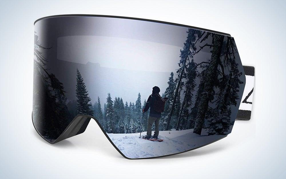 Zacro Ski Snowboard Goggles Anti Fog - Interchangeable Lens Over Glasses Snow Skiing Goggles