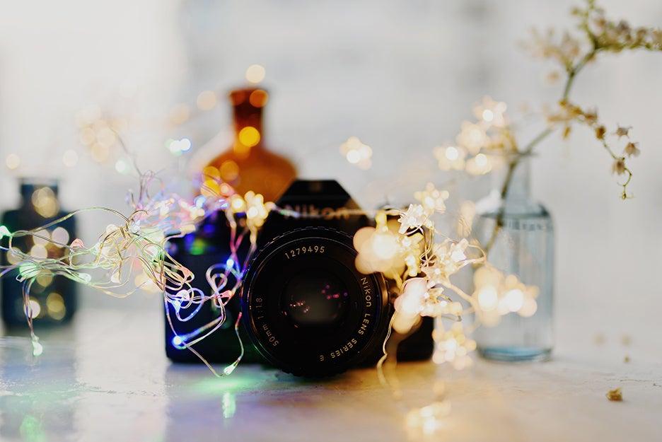 camera with lights around it