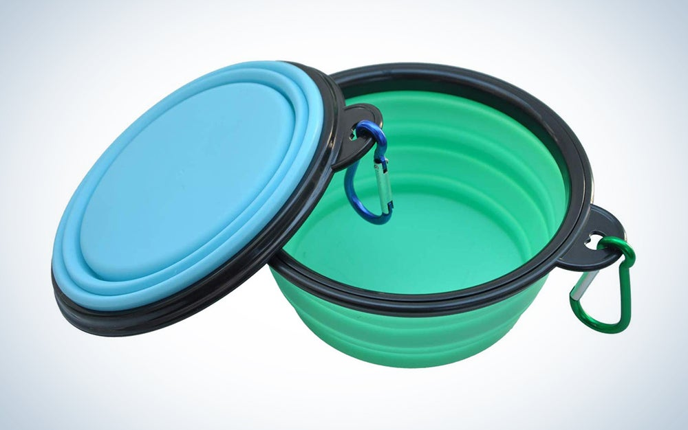 SLSON Extra Large Collapsible Dog Bowl 2 Pack