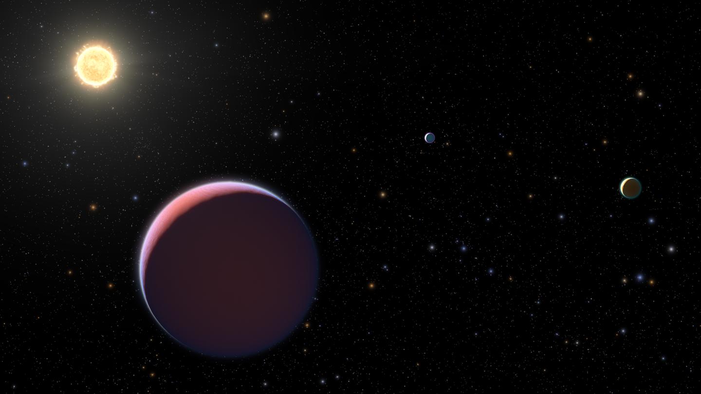 artist's interpretation of a super puff exoplanet