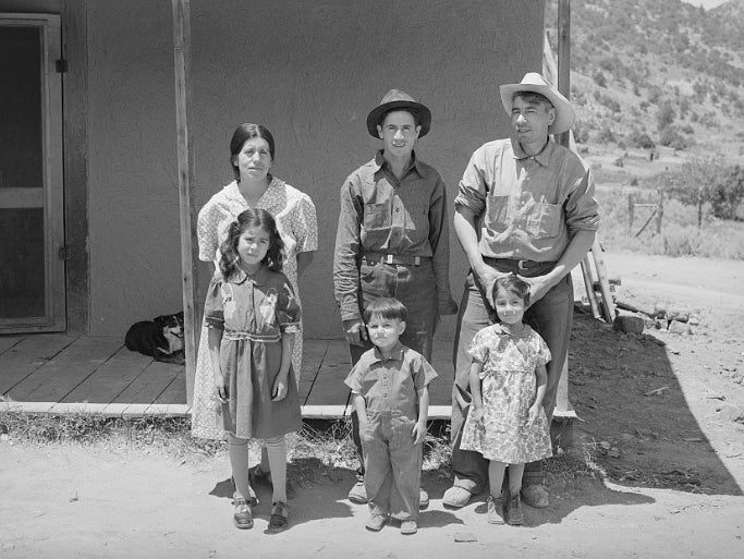 A Spanish-American family photographed in New Mexico in 1940.