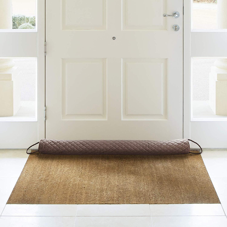 draft blocker in front of door