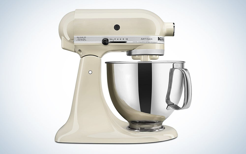KitchenAid KSM150PSBW Artisan Series 5-Qt. Stand Mixer with Pouring Shield