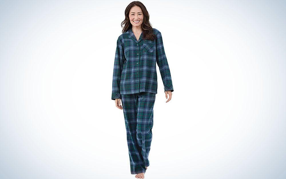 PajamaGram Women's Flannel Pajama Set