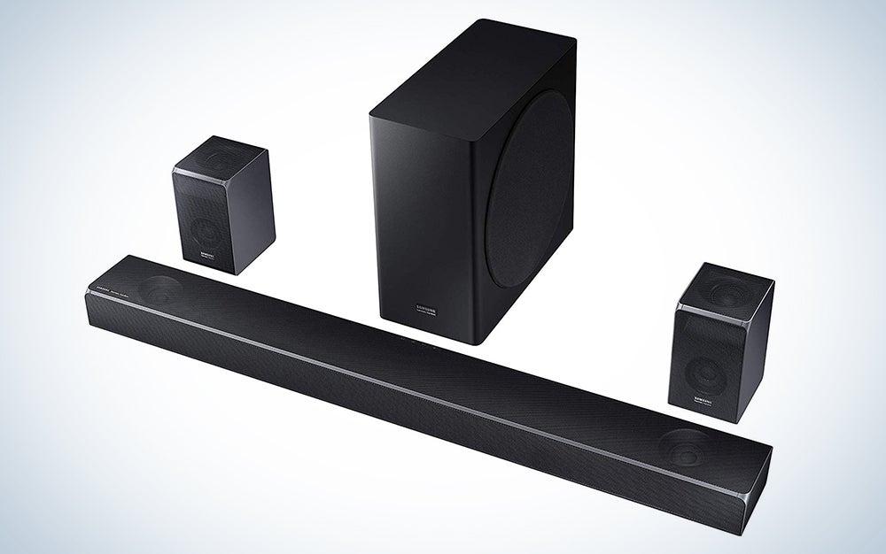 Samsung Harman Kardon 5.1.2 Dolby Atmos Soundbar HW-Q80R with Wireless Subwoofer
