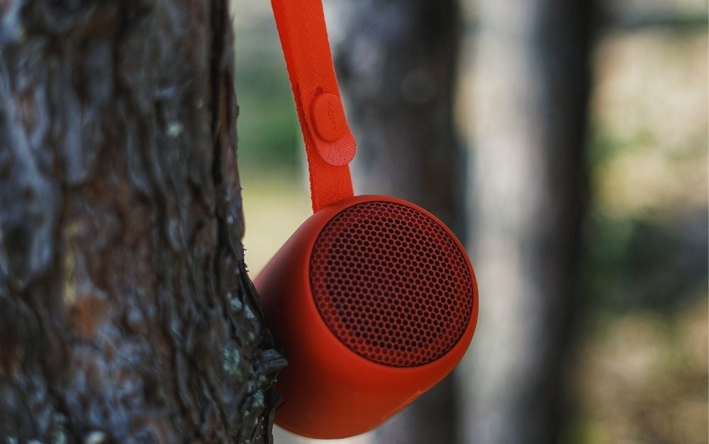 Best Bluetooth outdoor speaker hanging on tree