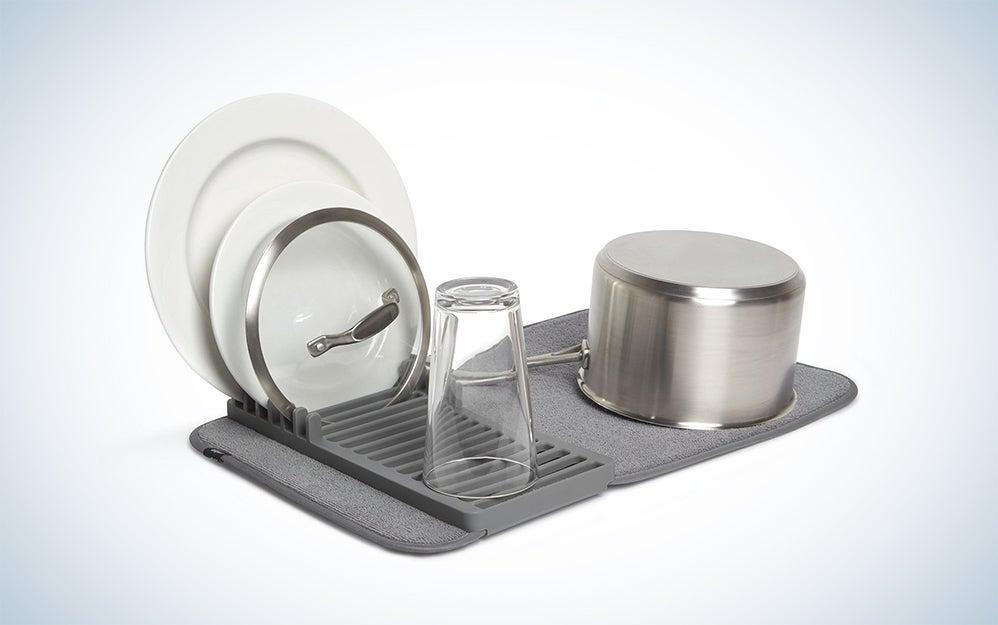 Umbra Udry Mini Dish Rack and Drying Mat
