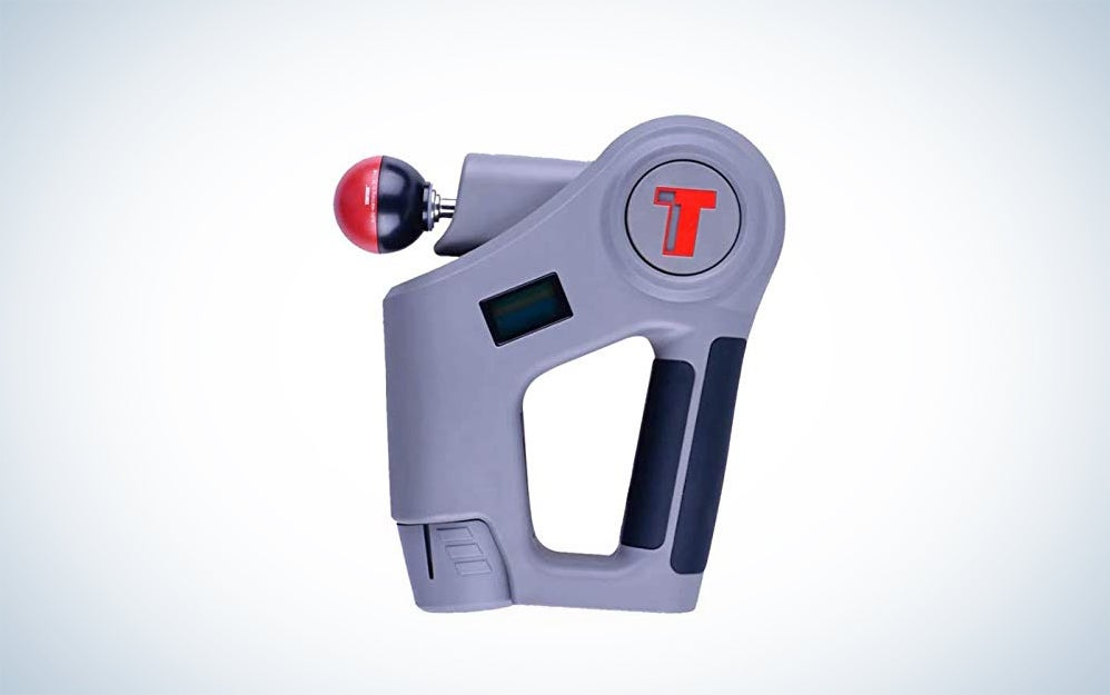 TimTam PowerMassager™ Pro – Handheld Percussion Massager – Deep Tissue Muscle Recovery Gun – Personal Therapy Massaging - Delivers Up to 2,800 Strokes Per Minute - 2X Battery Life