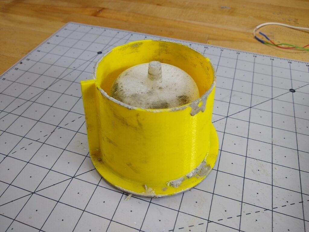 a 3D-printed flower pot mold
