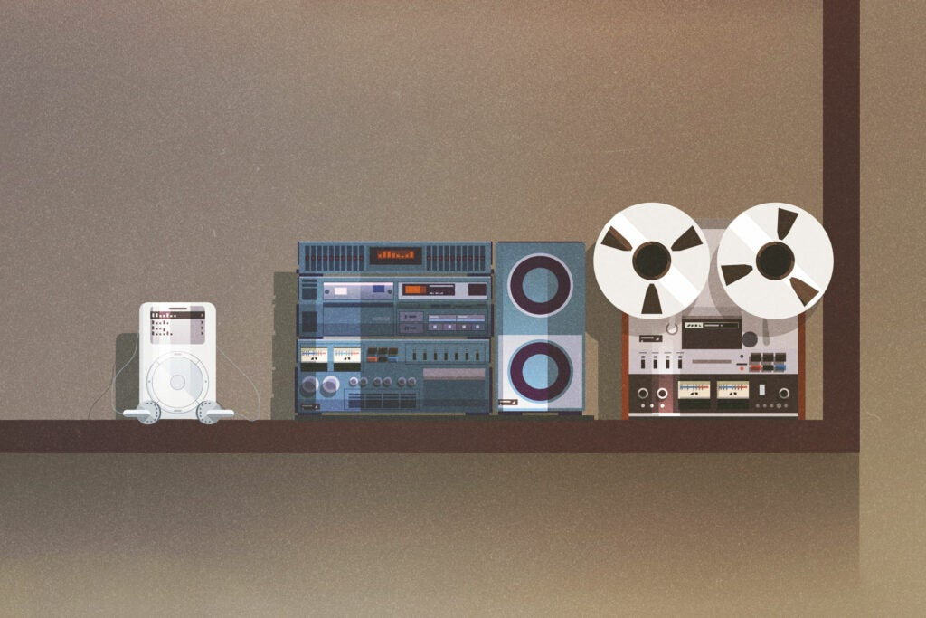 Magnetic tape, Compact discs, and MP3s