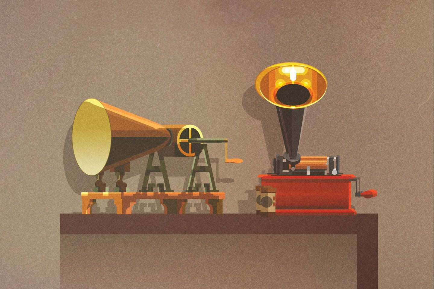 Phonautograph and Wax Cylinder recorders