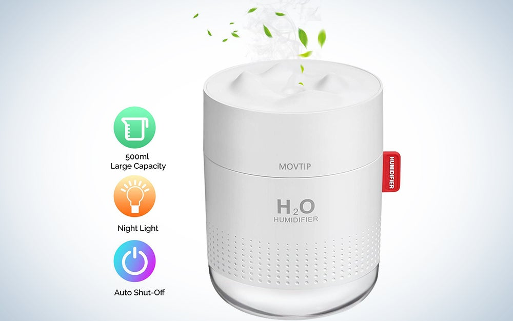 Movtip Portable Mini Humidifier with Night Light
