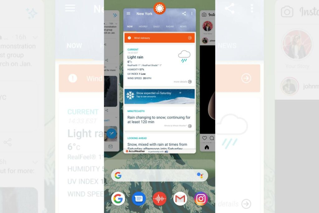 Android app carousel screenshot
